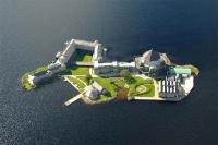 Остров на озере Лох-Дерг в Ирландии