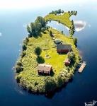 Остров в Рованиеми, Финляндия