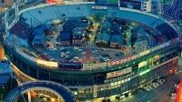 Жилой квартал внутри бывшего бейсбольного стадиона в Осаке, Япония