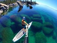 Сапсерфинг на озере Тахо, Калифорния