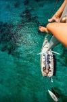 На мачте яхты