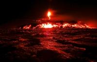 Извержение вулкана Этна на Сицилии (Италия)