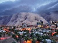 Пыльная буря в Финиксе, Аризона, США