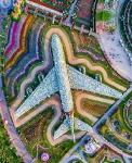 Самолет из 5 миллионов цветов. Дубаи, ОАЭ